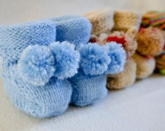 Adorable Hand-Made Baby Booties; Made to Order - NOT A PATTERN, the listing is for the actual booties