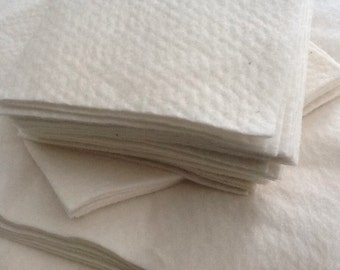 "100 x 6""x6"" 100% cotton batting squares for Quilt As You Go (QAYG) projects"