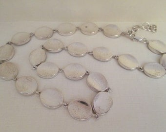 Vintage Oval 925 Sterling Silver Links Necklace