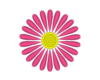 Pink Flower Daisy Embroidery Design