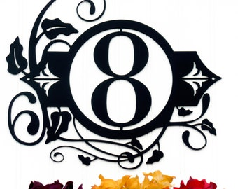 Custom Outdoor House Number Metal Sign - 1 Digit, Black, 13.5x12.5, Address Plaque, Metal Sign, Custom Sign, Personalized Steel Sign, Signs