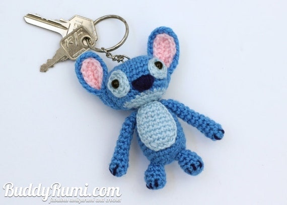 Crochet Patterns Keychain : PATTERN: Stitch keychain crochet amigurumi doll by BuddyRumi Etsy