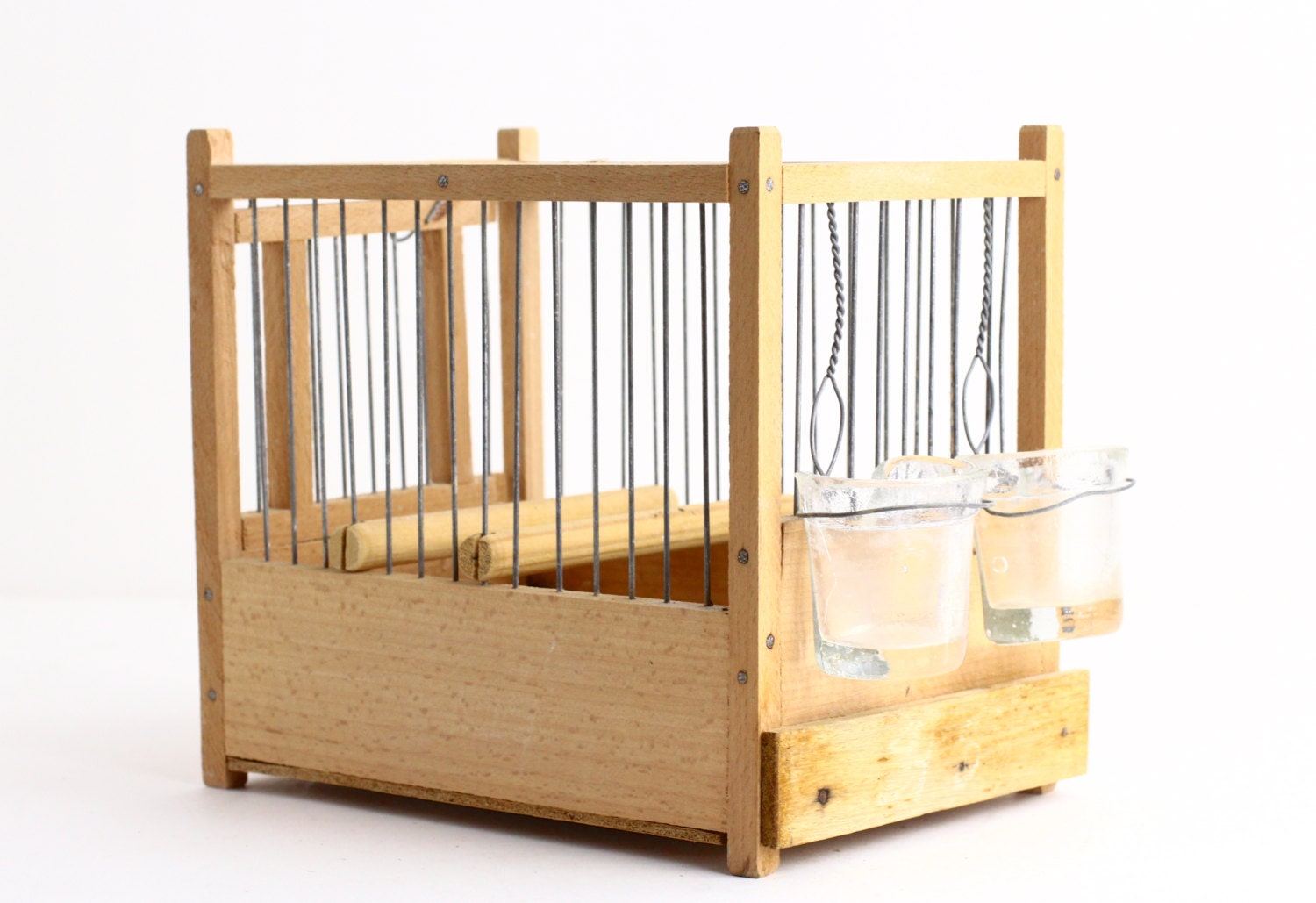 Vintage decorative bird cage small antique birdcage by for Petite cage a oiseaux decorative