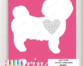 Personalized Bichon Frise Art Love Poem Gift 8 X 10 Dog Print