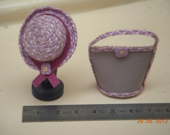 Hat or bag purple miniature 1/12th