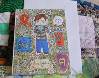 Harry Potter Neville Longbottom chibi A6 Card