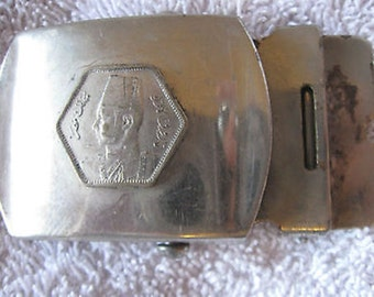 "Vintage Men's Ladies' Metal Web Belt Buckle 2 1/4x 1 1/2"" CL18-57"