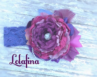 Berry parfait by Lolafina....girls headband...baby headband