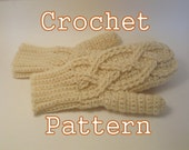 PDF Crochet Pattern - Alpine Cable Mittens - Instant Download