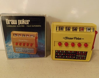 Vintage Waco Draw Poker Cordless Fully Automatic With Original Box