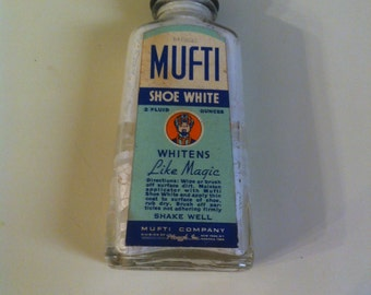 1940s Mufti Shoe White Bottle