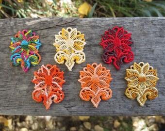 Sunflower FSL Earrings