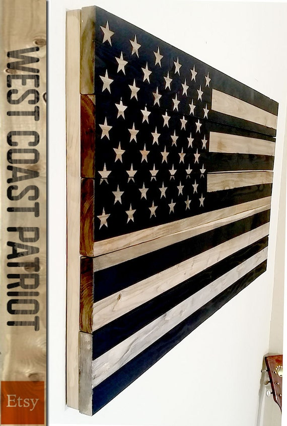 American Flag Unplugged Wooden Wall Art