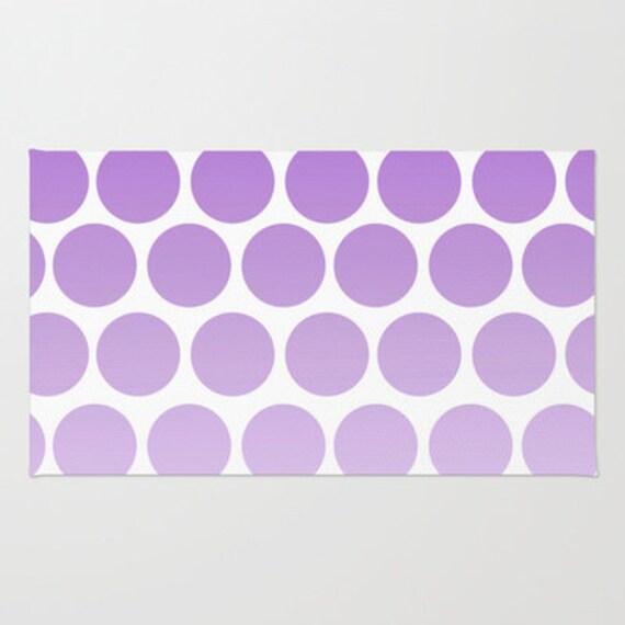 Purple Polka Dot Rug Floor Rug Room Rug Bathroom Rug