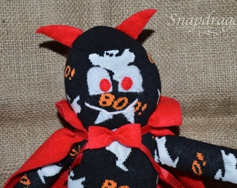 SALE Halloween sock monster, vampire, devil, decoration CLEARANCE