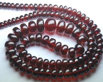 428 Carats,19 Inches Strands, Super AAA Quality,Large Orange Hessonite Garnet Smooth Rondelles,7-12mm