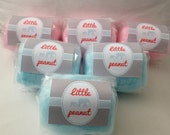 16 Small Cotton Candy Party Favors with Custom Labels