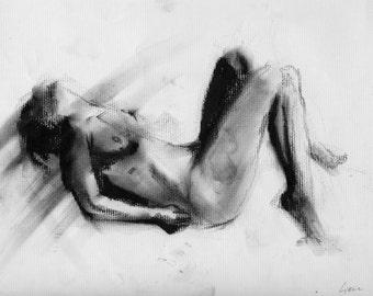Haunting Fine Art Figure Drawing, No. 72