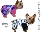 Dog Pajama Onesie Pattern 1745 * Large & XLarge * Dog Clothes Sewing Pattern * Dog Pajamas Pattern * Dog Onesies * Dog PJs * Dog Apparel