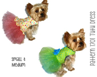Tutu Dog Dress Pattern 1701 * Small & Medium * Dog Clothes Sewing Pattern * Dog Harness Dress * Dog Apparel * Dog Outfit * Girl Dog Clothes