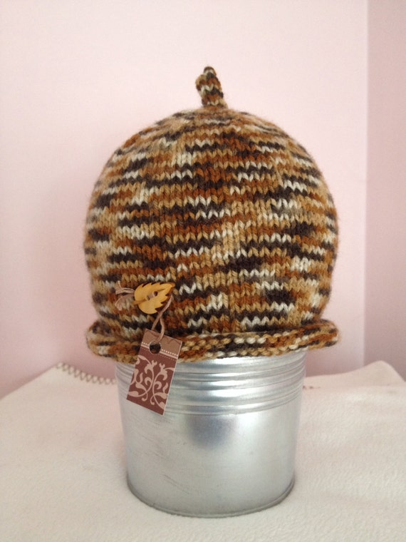 Simple knitted hat pattern sizes 0-6 months to adult