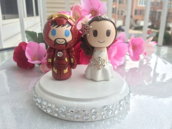 iron man wedding cake topper wedding cake topper customizable w iron groom by 16492