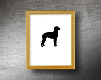 Rhodesian Ridgeback Silhouette Art 8x10 - UNFRAMED Hand Cut Rhodesian Ridgeback Print - Personalized Name or Text Optional