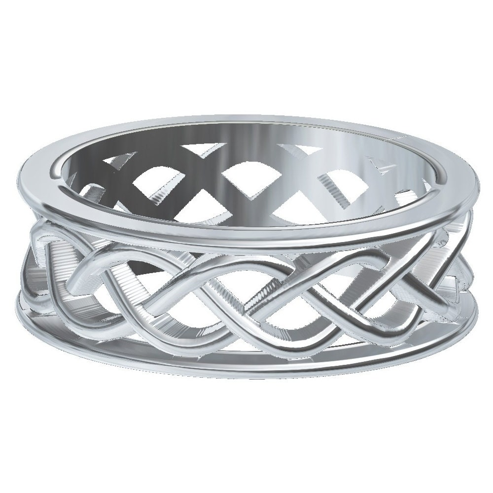 celtic wedding ring with 3 cord braided knotwork by