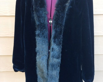 Jordache 80s faux fur coat