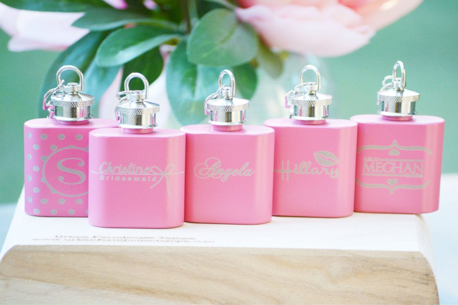 Personalized ladies flask maid of honor gift bridesmaid for Gifts for bridesmaids from bride