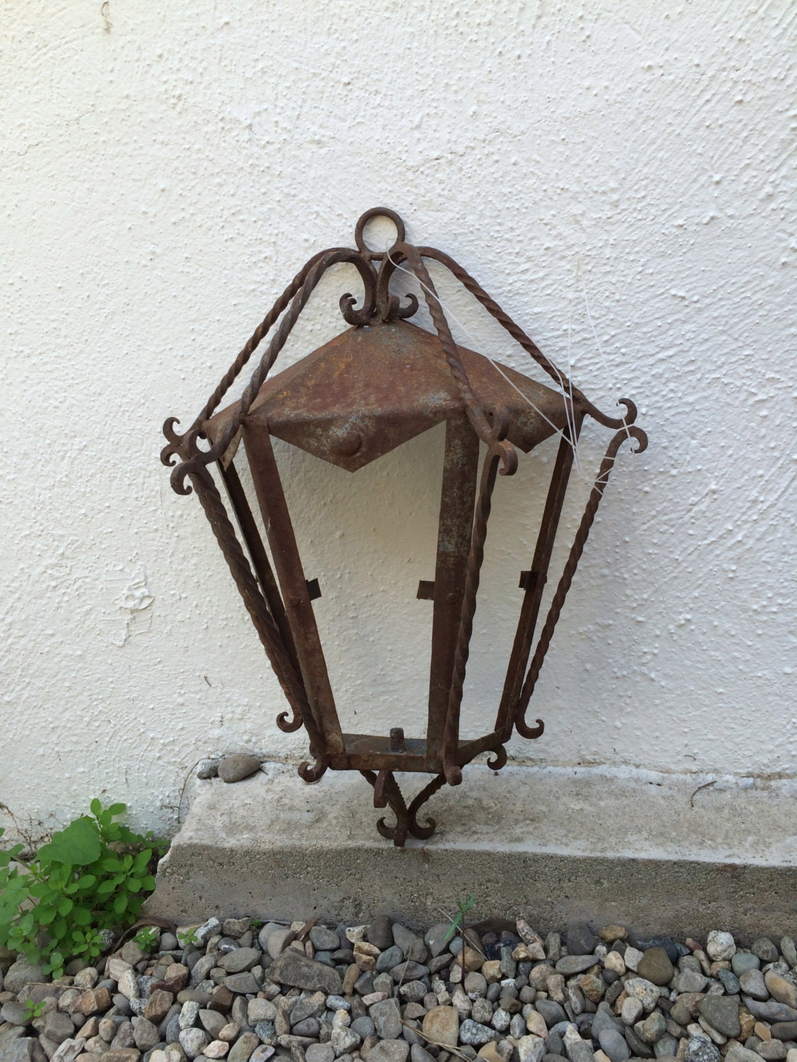 Antique Wall Sconce Outdoor Lighting Spanish Revival Wrought