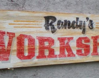 Personalized Workshop Signs