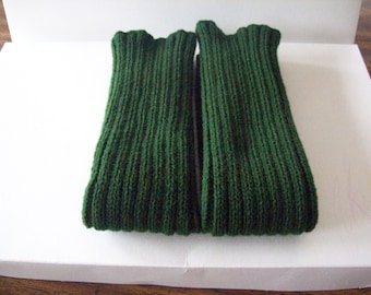 Olive Green Knitted Leg warmers, Excercise, Yoga, Dance Leg warmers, Boot Leg warmers, Leggings