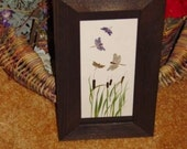 Solid cedar wood 4x10 picture photo craft frames dark finish country rustic panoramic display