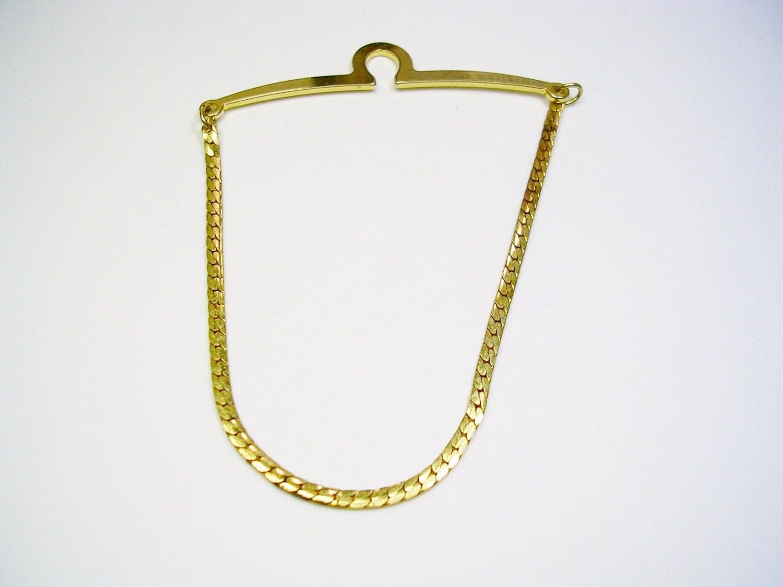 Vintage Tie Chain Gold Tone Giorgio Brutini Over By