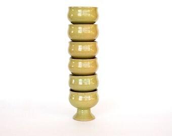 Danish Modern Pottery - Vintage Stoneware Pottery Goblets - Pottery Wine Cups - Danish Pottery - Wedding Gift - Housewarming Gift - Hanne
