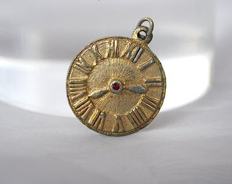 Clock Charm - Clock Pendant - Vintage Charm - Roman Numbers - Vintage Jewelry - Clock Face Pendant - Clock Jewelry - Time - Unique Gift