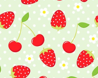 D-4897 fun strawberry and cherry backdrop