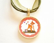 Bambi Necklace - Kids Jewelry , Girls Necklace , Cute Gift for Little Girls