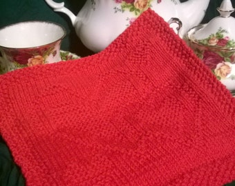 Valentine Dishcloth - February