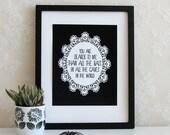 Morticia Addams Family Romantic Bat Quote Valentine's Day 5x7 or 8x10 Art Print