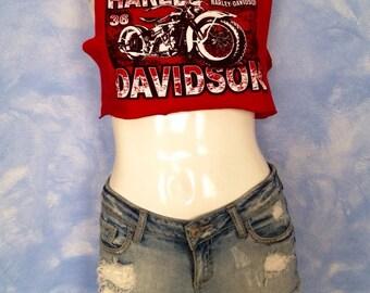 Harley Davidson DIY Crop Top size S/M
