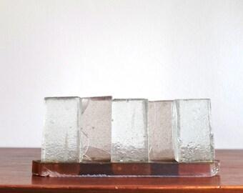 1970s modern glass sculpture