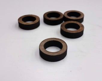 US 10 One Walnut ring blank Laser cut