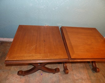 Beautiful Vintage Wood End Tables  Occassional Ottomans Bench