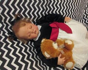 Custom Sleeping Reborn Toddler Hailey by Donna Rubert