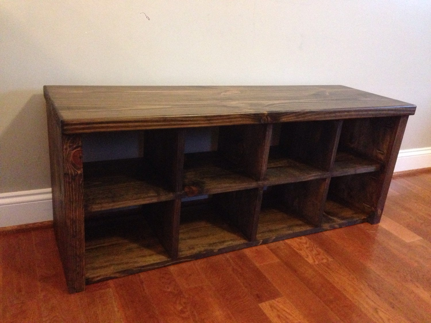 Rustic Shoe Bench With Cubbies By Jrscustomwoodwork On Etsy