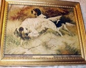 Thoroughbreds Hunting Dogs Artist G Muss Arnolt Vintage Framed Lithograph Print