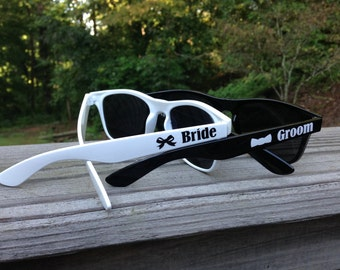 Bride and Groom Personalized Sunglasses, Set of 2, Bridal Party, Wedding