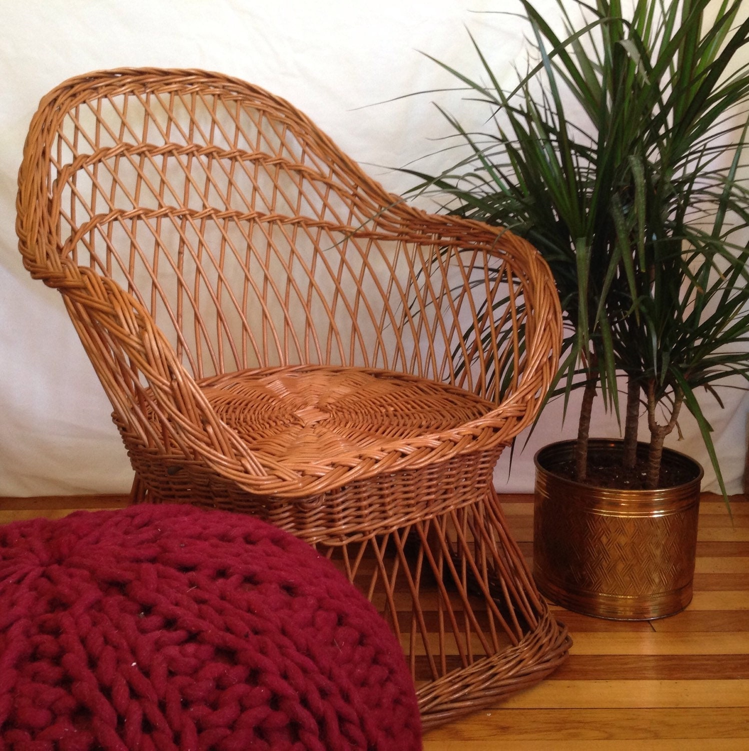 Small Vintage Wicker Chair